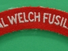 Royal Welch Fusiliers cloth shoulder title.