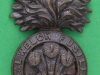 KK 622. Royal Welch Fusiliers. Officers bronce cap badge fold blades with overlay. 26x44 mm.