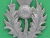 CW318. 14th Battalion The London Scottish Shoulder title,  28x31 mm.