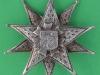 KK 1839u. 13th Battalion Kensington Rifles the London Regiment. officers cap badge. Lead 64 mm.