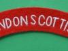 London Scottish shoulder title ww2 issue. 100x22 mm