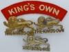 Kings Own Royal Lancaster Regiment badges