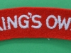 Kings Own Royal Lancaster Regiment cloth shoulder title 95x22 mm.
