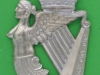 The Queen`s Royal Irish Hussars 1959. NCO arm badge. Crown removed and replaced with another. lugs 39x62 mm.