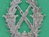 Hærens Skyttemærke på gevær, 31 x 32mm