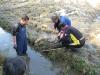 26 okt, Der fiskesål i vandløbet