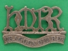 KK 1122. Her Majestys Reserve Regiment of Dragoon Guards. collar badge. 42x22 mm.