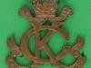 KK 1371. Kings Colonials bronce cap badge. Three lugs 39x52 mm.