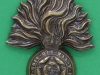 KK 595 The Royal Fusiliers City of London Regt thick cap badge, 40 x 51mm