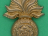 CW145. The Royal Fusiliers, City of London, collar badge with a coronet, 32 x 42mm