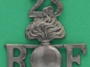 RW800. 23rd Sportsmens Battalion the Royal Fusiliers, City of London Regiment, shoulder title, 41 x 45mm