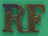 RW792. RF, Royal Fusiliers shoulder title. 26 x 18mm