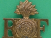 CW145, The Royal Fusiliers shoulder title, 37 x 32mm