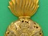 KK 1959. The Royal Scots Fusiliers. Officers cap badge. Disc Gaunt. 36x70 mm.