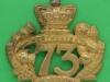 KK 537. 73rd Foot Perthshire 1874-81. 57x55 mm.