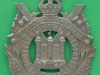 KK 629. Kings Own Scottish Borderers Large flat badge. 52x70 mm.
