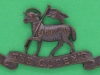 CW133. Queens West Surrey Regiment. Officers collar badge ww1. Three lugs 54x30 mm.