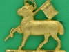 CW134. The Queens Royal West Surrey Regiment. Officers beret or  collar badge. Lugs 34x32 mm.