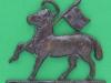 KK 1969. The Queens West Surrey Regiment. officers bronce cap badge. Replaced lugs 53x46 mm.