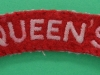 The Queens (West Surrey) Regiment cloth shoulder title 90 mm (1)