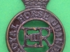 KK 1878. The Royal Horse Guards (the Blues), dark brass, slider, Bowler. 27x39 mm.