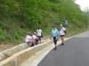 En lille rast efter 6-7 km, vi andre fortsatte