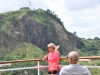Gennemskoret klippeformation i kanalen