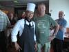 En af chefkokkene og mig