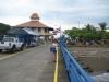 Landgangen fra skibet ind til Puntarenas CostaRica