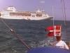 Krydstogtskib ved Grenadinerne