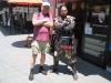 En sej viking og do samurai ved Kumamoto Castle