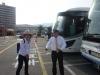 Guiden og buschaufføren på Miyajima Shrine tour