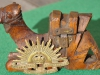 Australian Camel Corps ww1 carved wood trench art