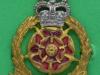 KK 2026. Lancastrian Brigade, officers, gilt, silv, enamel, long lugs, gaunt. 27x42 mm.