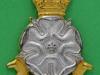KK 2032. Yorkshire Brigade, officers, silv and gilt, lugs, Gaunt. 32x43 mm.