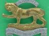 KK 612. The Leicestershire Regiment. Slide & braceholes. 49x42 mm.