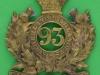KK 566. 93rd Highlanders, Glengarry badge 1874-81. 60x67 mm.