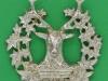 KK 687. Gordon Highlanders, officers silver cap badge in relief. No marks. Lugs 58x63 mm.
