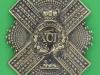 Pre 1881 XCII 92nd Gordon Highlanders cross belt plate badge. 70x94 mm.