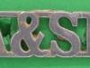 RW1407.Argyll & Sutherland Highlanders. Shoulder title hvid 12x38 mm.