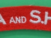 The Argyll and Sutherland Highlanders cloth shoulder title ww2 issue. 80x21 mm.