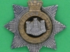 CW156. The Devonshire Regiment offcers collar badge, victorian crown. 31 mm.