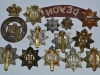 The Devonshire Regiment badges, back sides