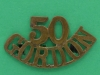 50th Gordon Highlanders, shoulder title. 49 x 29mm.  30$