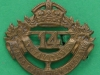 14th King's Canadian Hussars Collar Badge, MC-24 Canada, pre ww2, 30 x 27mm