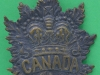 Canadian Expeditionary Force Boer War sun pit helmet badge, 56 x 67 mm