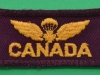 Canadian Airborne Regiment shoulder insignia no 1 dress. 60x25 mm.