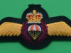 RCAF padded cloth parachute wing 70x31 mm.