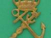 Intendanturkorps Flåden 1909, til påsyning, 29 x 45mm