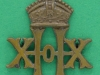 CW36. 20th Hussars collar badge, different crown from cap badge. 30z32 mm.